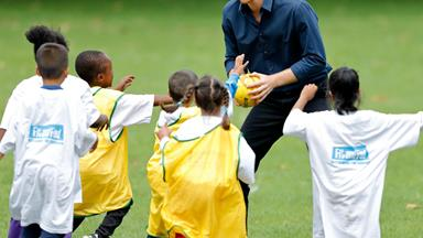 Prince Harry plays handball with adorable kids in London, promptly melts hearts everywhere