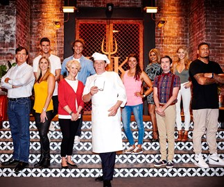 Marco Pierre White and the cast of Hell's Kitchen