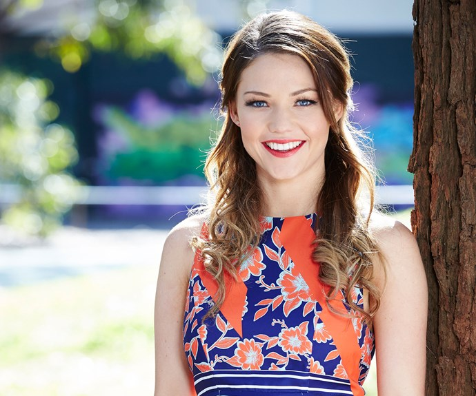 Sam Frost is determined to nail her debut drama appearance on Home And Away.