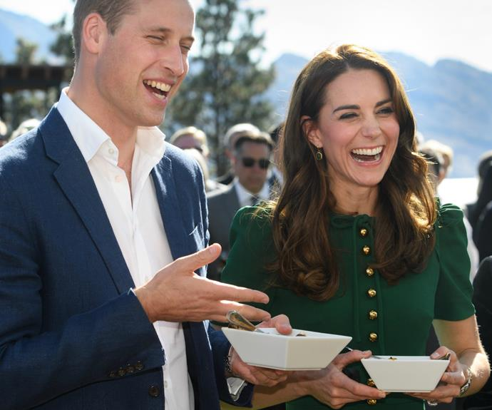 The Cambridges are a couple of foodies.