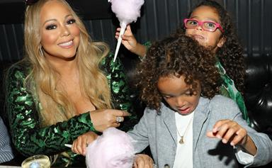 Sweet things! Mariah Carey steps out with six-year-old twins Moroccan and Monroe