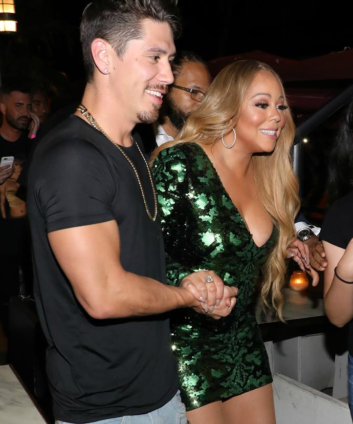 Mariah and Bryan were spotted together -- holding hands! Does this mean they're back on?