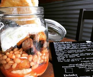 Cafe serves full english breakfast in jar