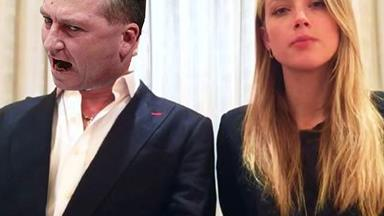 Amber Heard just learned about Barnaby's citizenship snafu...and she's over the moon
