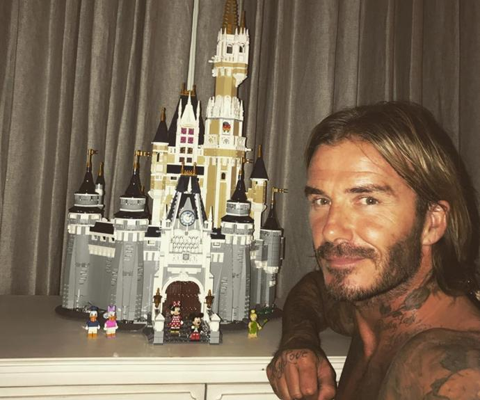 "David Beckham has pulled an all-nighter for his six-year-old daughter, building her a castle fit for princess! Uploading a photo of himself in front of his handy work, he wrote: ""1 am done... Someone's gonna have a nice surprise in the morning 👸 zzzzzzzzzzzzzzzzz."" What a guy!"