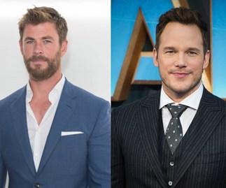 Chris Hemsworth was super intimidated when he met Chris Pratt and yes, we're melting