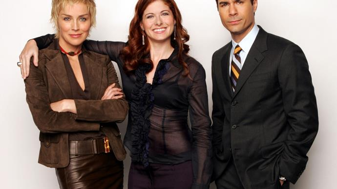 Debra Messing, Eric McCormack and Sharon Stone