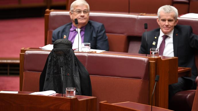 Was Pauline Hanson's burqa stunt more dangerous than she anticipated?