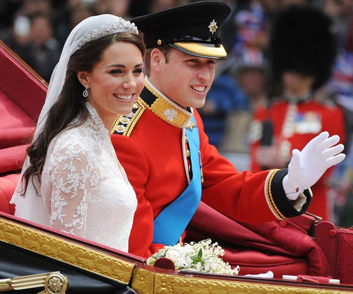 The Duke and Duchess of Cambridge at their Royal Wedding