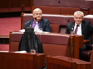 Pauline Hanson wants burqa ban question added to the same-sex marriage survey