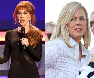 Kathy Griffin and Sam Armytage
