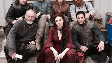 Go behind-the-scenes with the cast of Game Of Thrones