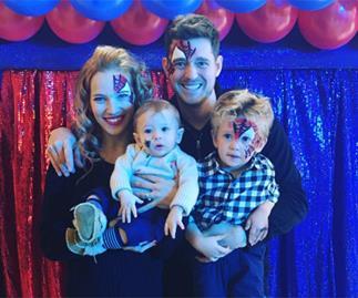Michael Buble's little superhero turns 4