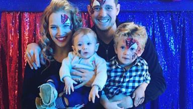 Michael Bublé's little superhero turns 4