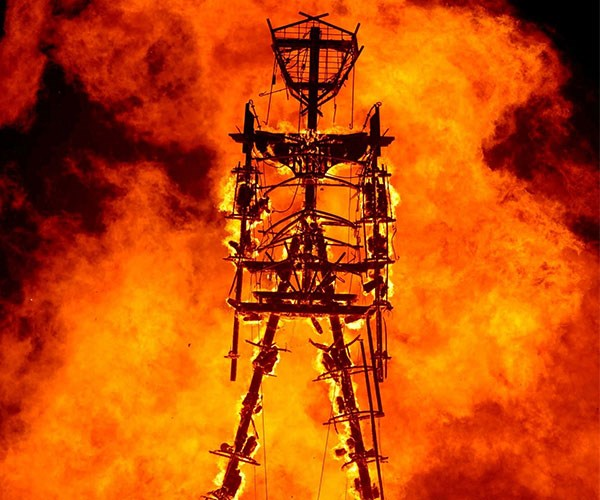 Man who ran into Burning Man's iconic fire has died