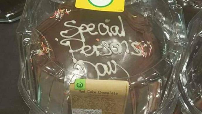 Woolworth's Special Person's Day Cake