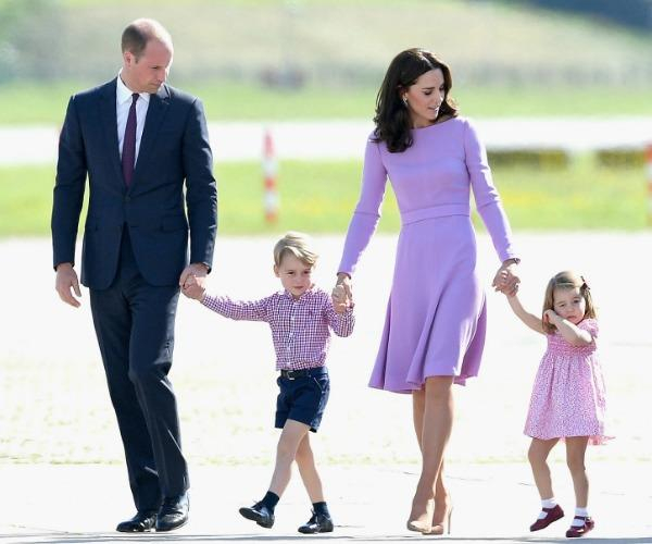 **The fab four:** Kate balances her role as a full-time royal and mother brilliantly.