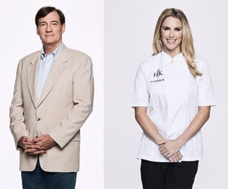 David Oldfield and Candice Warner