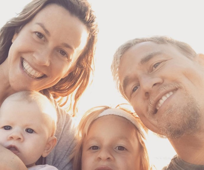 Alanis Morrisette and her family
