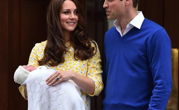 Prince William, Princess Charlotte and Duchess Catherine