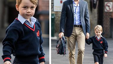 King of the classroom! Inside Prince George's first day of school