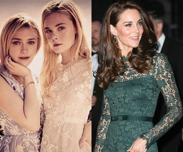 Duchess Cathrine, Elle and Dakota Fanning