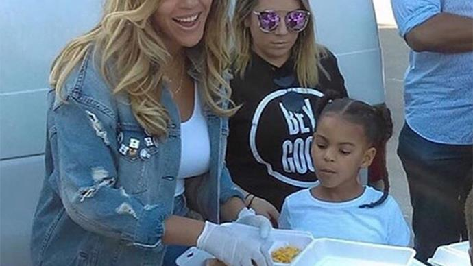 Beyonce and Blue Ivy help feed victims of Hurricane Harvey