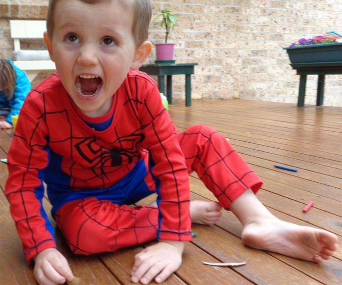 William Tyrrell was last seen wearing a blue and red Spiderman outfit.