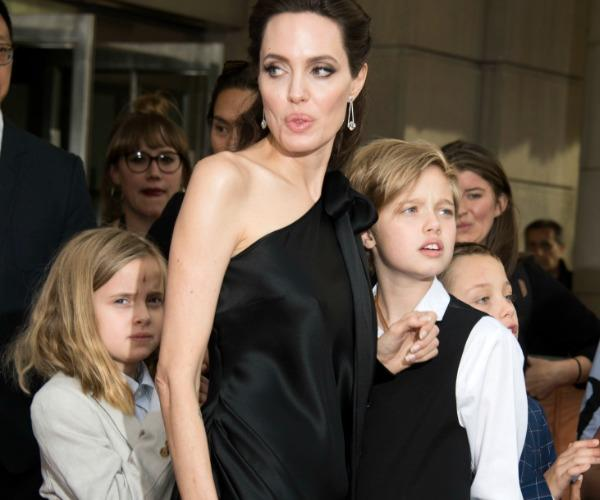 Angelina kept things simple with a little black dress for the important occasion.