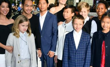 It's a family affair! Angelina Jolie hits the red carpet with all six of her children