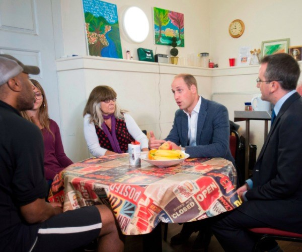 During the engagement, the prince spoke with recovering addicts about how the charity has helped to change their lives.
