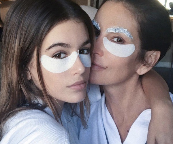 Kaia Gerber, 16, is Cindy Crawford's double. The pair often post lookalike snaps together on social media to their fans' delight.