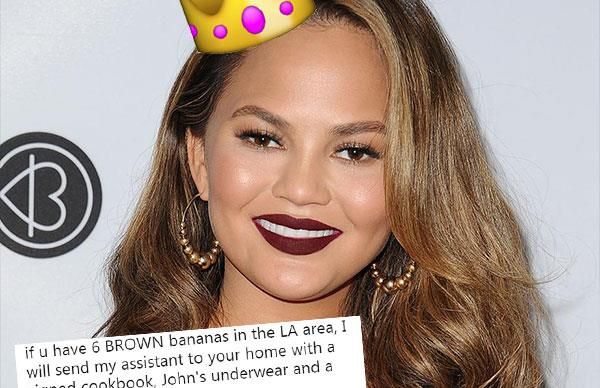 Chrissy Teigen's hilarious quest for brown bananas
