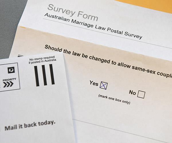 Same-sex marriage postal vote