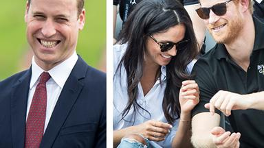 Cheeky! Prince William's adorable response to his little brother getting hitched
