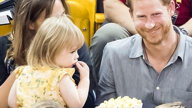 This little girl stole Prince Harry's popcorn and she's our new hero