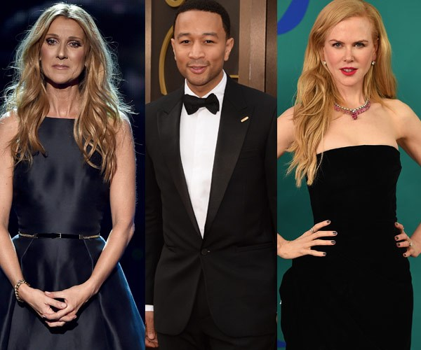 Celine Dion, John Legend, Nicole Kidman