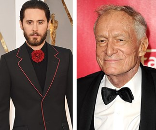 Jared Leto and Hugh Hefner