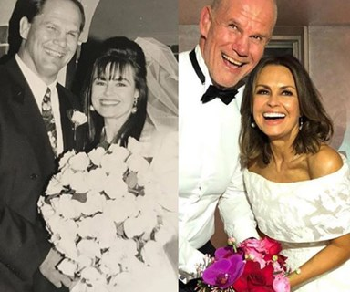 The amazing story behind why Lisa Wilkinson and Peter FitzSimons renewed their wedding vows