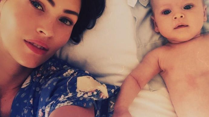 Megan Fox with her son, Journey.