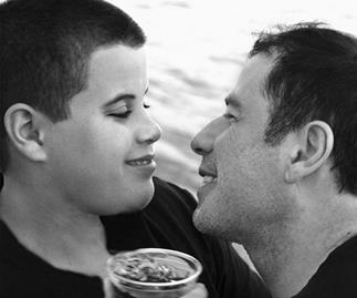 John Travolta and son