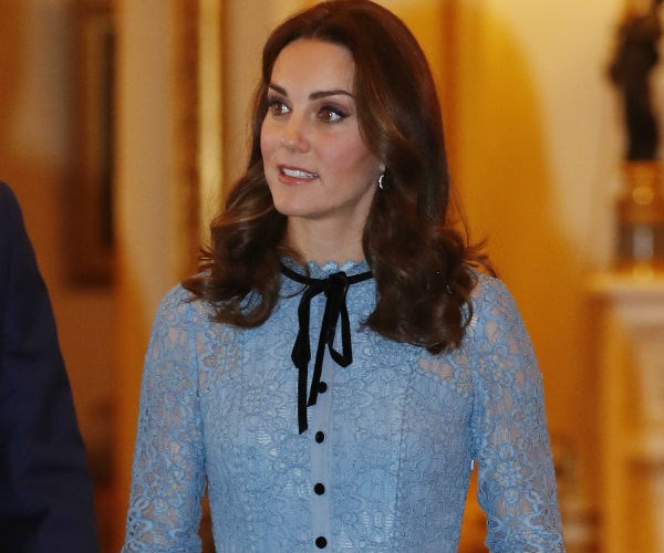 Although still suffering from extreme morning sickness, Kate appeared relaxed throughout the evening.