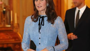 The Duchess of Cambridge glows at her first public event since announcing her pregnancy