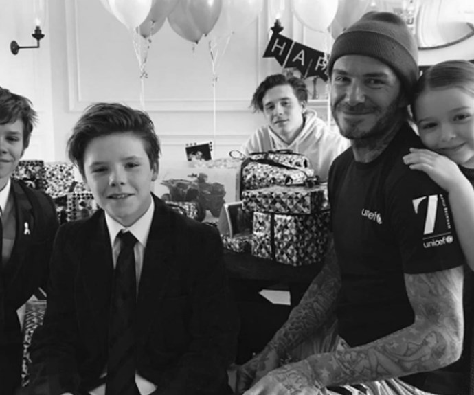 david beckham and his family.