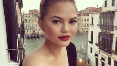 Chrissy Teigen's lazy-girl makeup hack is for those nights when you don't want to go out after work