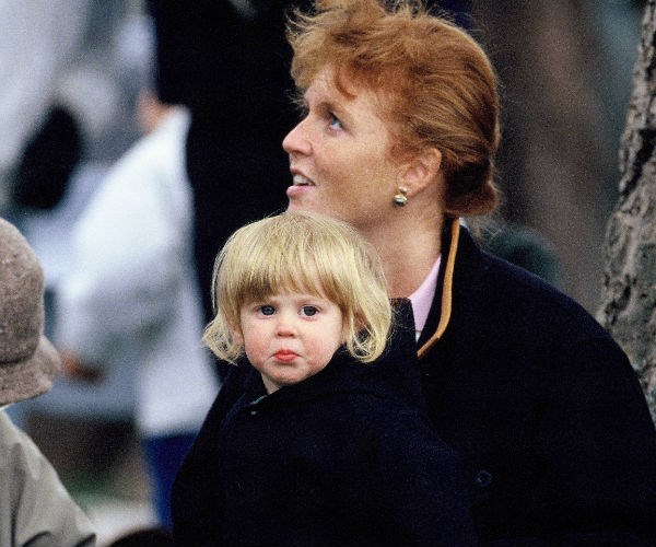 Princess Beatrice is pictured with her mother at the Royal Windsor Horse Show in 1990.