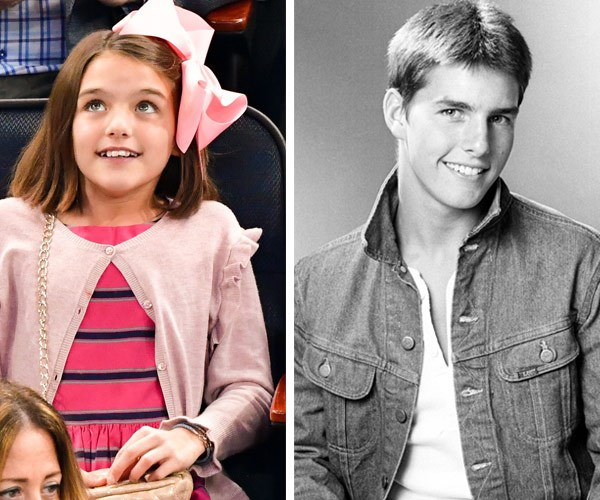 Suri and Tom Cruise