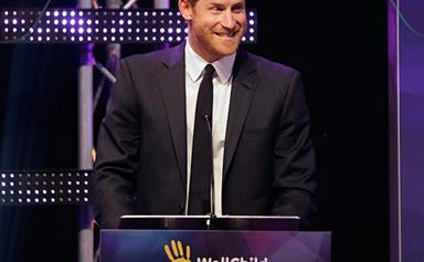 """The Paternal Prince! Harry is """"really lovely"""" with sick kids at the WellChild Awards"""