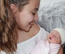 Sam Wood shares a beyond sweet photo of his newborn daughter and big sister Eve