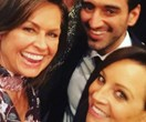 "The Project's Carrie Bickmore and Waleed Aly welcome Lisa Wilkinson to the ""family"""